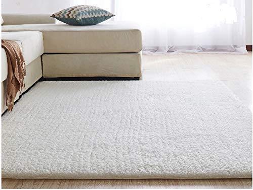 Alfombra de la habitación Casa alfombra suave for no Shed-Grueso Llanura fácil de limpiar alfombra mullida Ontario-16 Colores y 8 (Metro blanca 80 * 200 cm)
