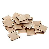 タグ 約100個入り 木製 木片 カード作り スクエア スクラップブック 手芸装飾 30mm