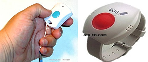 Medical Alert System - NO Monthly FEES - Includes Necklace Panic Button and Waterproof Wrist Wireless Help Buttons - Elderly Home Help Alarm Life Monitor