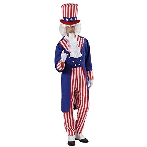 Amakando Traje USA Hombre Disfraz américa S 48 Ropa carnavalera Americano Fiesta temática Estados Unidos Ropa Carnaval capitán américa Atuendo Hombre Barras y Estrellas EE. UU.