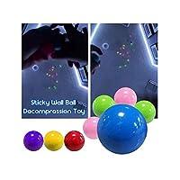 ストレスリリーフ-蛍光粘着性のあるターゲットボール-おもちゃの子供用ギフト-家族向けゲーム4個(青、紫、赤、黄色)