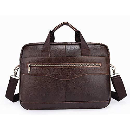 JPDP Factory Direct Leather Men's Bag Hombres Casual Business Briefcase Cross Hombres Bolso de Hombro Bolso- Cafetera