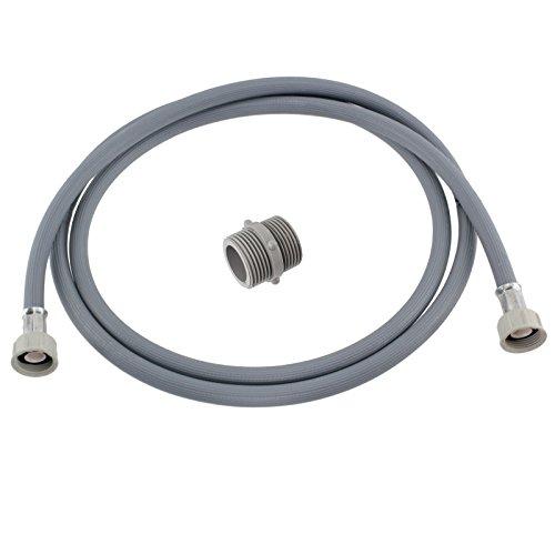 SPARES2GO rechte einde koud water vullen inlaat slang verlenging voor snoep wasmachine (2.5M)