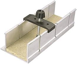 Wolfcraft 2228000 - Caja de ingletes con abrazadera de fijación en aluminio 250 x 73 x 60 mm