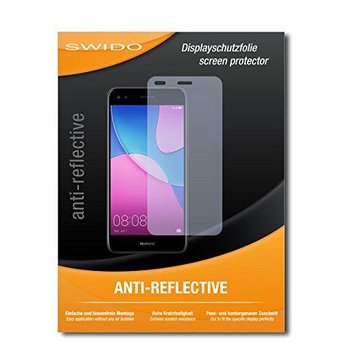 SWIDO Schutzfolie für Huawei P9 Lite Mini [2 Stück] Anti-Reflex MATT Entspiegelnd, Hoher Festigkeitgrad, Schutz vor Kratzer/Bildschirmschutz, Bildschirmschutzfolie, Panzerglas-Folie
