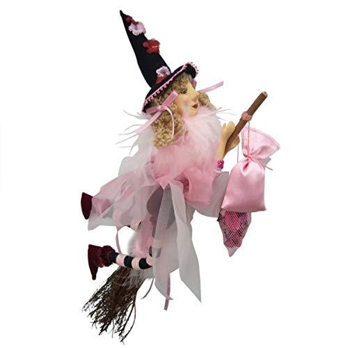 Hexen von Pendle-JAZZ Hexe fliegend (Pink) 32cm