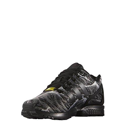 adidas ZX Flux Weave, Scarpe da Running Uomo, Nero Core Black Core Black Core Black Bright Yellow, 43 1/3 EU