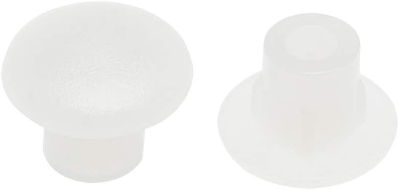 uxcell Shelf Peg Hole Plugs 5mm Cov Plastic Cheap bargain White Max 85% OFF Clear Dia Tube