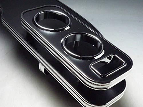 数量限定 20系ヴェルファイア フロントテーブル レザーブラック 携帯ホルダー運転席側 ブラックフルメッキ