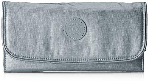 Kipling Money Land, Portafoglio Donna, Grigio (Steel Gr Metal), 18.5x10x3 centimeters (B x H x T)