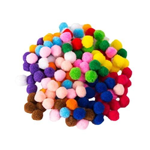 100pcs Mixed Color Polyester Pom Pom Ball for Home Wedding Christmas Carft Decoration