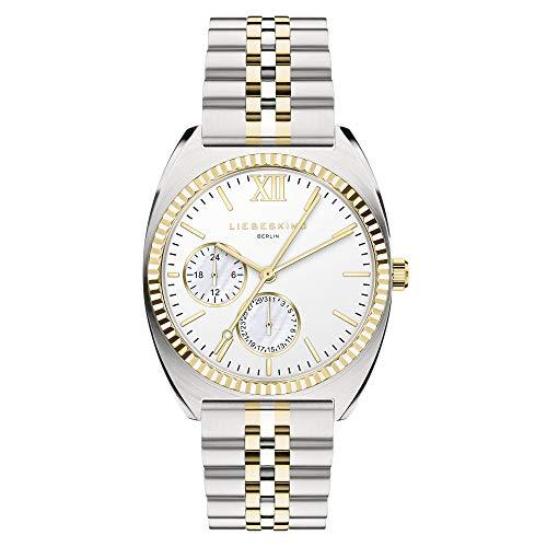 Liebeskind Berlin Damen Analog Quarz Uhr mit Edelstahl Armband LT-0262-MM