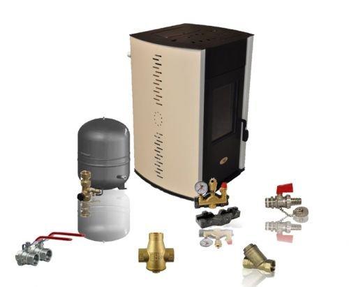 Watervoerende pelletkachel ECO SPAR ALBA 15 kW aansluitset
