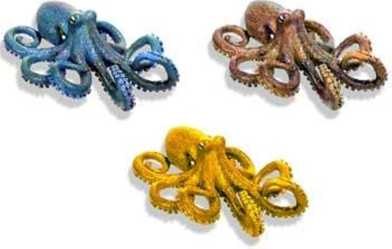Resin Ornament  Small Octopus Asst 3pk