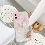 Yearinspace Fitted Case - Cartoon Hello Kitty Phone Case for iPhone 11 Pro Max 7 8 Plus X XR XS MAX 12 Pro Max Mini My Melody Shockproof Case Soft TPU Back Cover