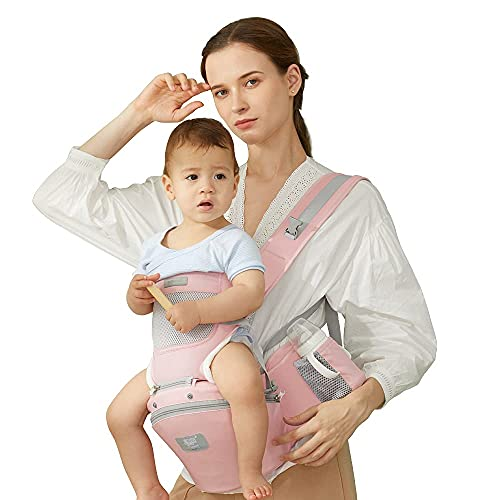 360 All-Position Baby Carrier Baby Hip Seat Ergonomic Breathable Front Multifunctional Protection for Baby Hip Carriers Silicone Cushion Adjustable Carrier