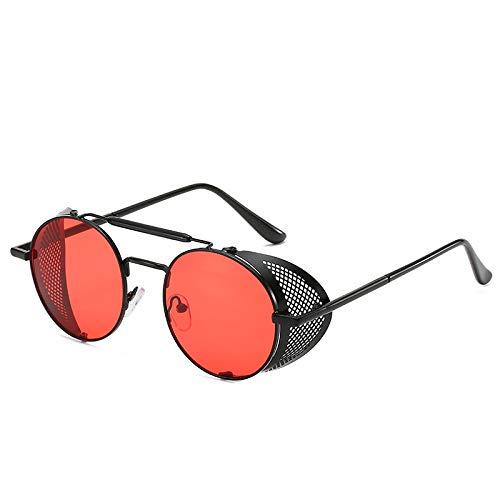 Gafas De Sol Polarizadas Retro Clásicas, Marco De Metal Punk Redondo, Ligero Y Adecuado para Viajes, Ciclismo, Montañismo, Accesorios De Ropa para Juegos De rol,Marrón