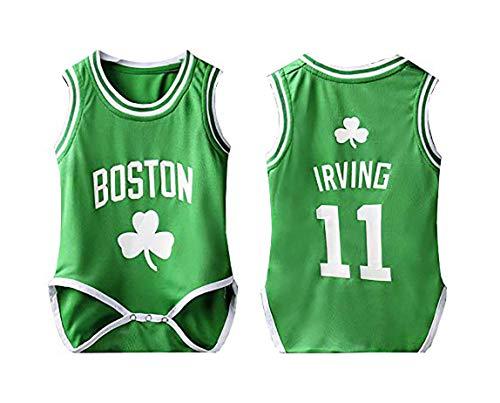 LOVECAP Irving # 11 Bebés Masculinos y Femeninos Mono Uniforme de Baloncesto Suelto, (6-30 Meses bebé) Green-9