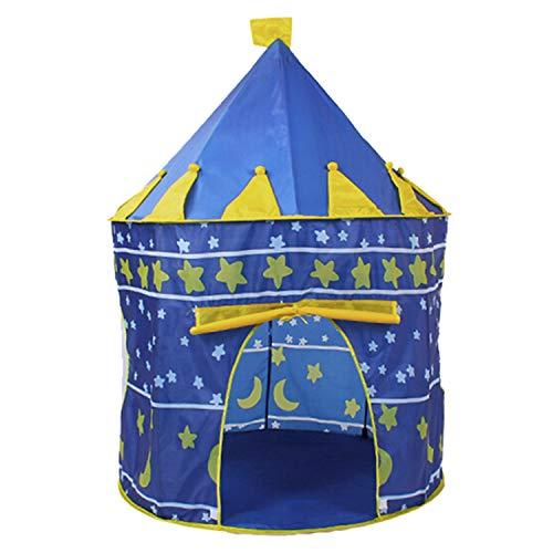Speeltent Voor Kinderen Om Op Te Zetten in De Vorm Van Een Kasteel (Voor Gebruik Binnen of Buiten), Met Mat En Sterrenverlichting (Lichtgrijs)