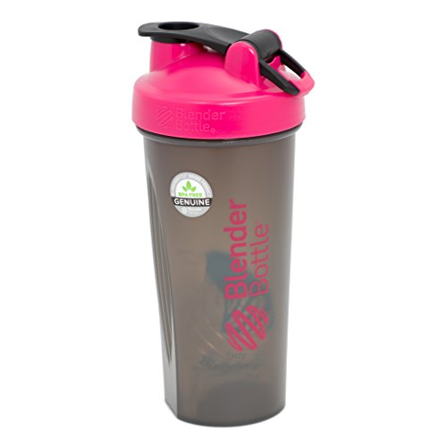 Price comparison product image BlenderBottle Full Color Bottles - New Black Translucent Color with Shaker Ball - Pink - 28oz