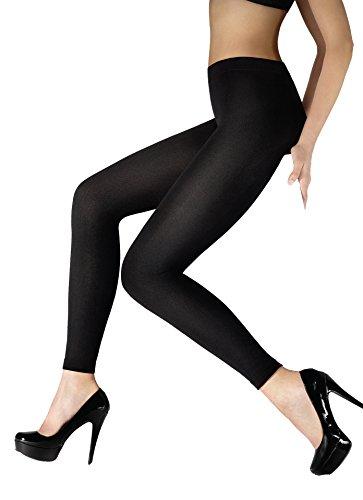 Marilyn superwarme blickdichte Leggings mit Kuschelflieseinlage Länge Long, 200 Denier, Größe 36/38 (S/M), Farbe Schwarz (black)