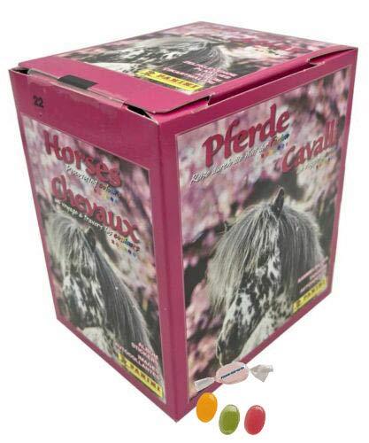 Panini Pferde Reise durch die Welt der Farben Sticker - 1 x Display 36 Stickertüten zusätzlich 1 x Sticker-und-co Fruchtmix Bonbon
