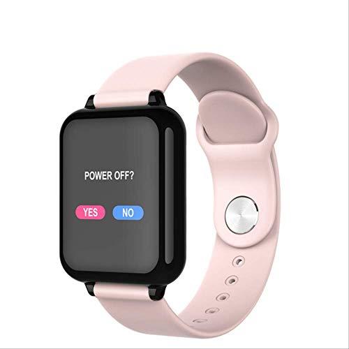 WFQ Watch Smart Watch Smart Watch für Männer und Frauen, Fitnessarmband, Tracker, Herzfrequenzmesser, Sport Multimode, Smart Band Watch für Männer und Frauen Pink