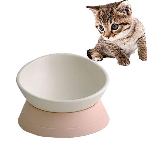 HEELPPO Futternapf Katze Futternäpfe Für Hunde Katzen Napfset Personalisierte Hundenapf Hundefutter Und Wasserschüssel Anti Schling Napf Katzen Hundenäpfe rutschfest White