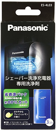 パナソニック シェーバー洗浄充電器 専用洗浄剤 3個入 ES-4L03