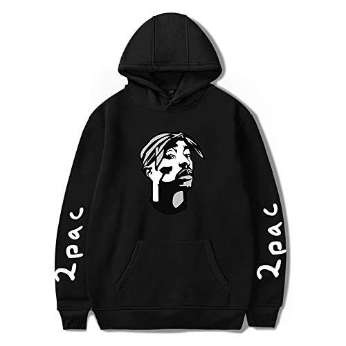 2PAC Sudaderas con Capucha Hip Hop Rapper 2PAC Sudadera 2PAC Hoody Manga Larga Sudaderas Jerseys Abrigos Hoodies
