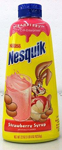 Nestle Nesquick Strawberry Syrup 22 Oz (Pack of 3)