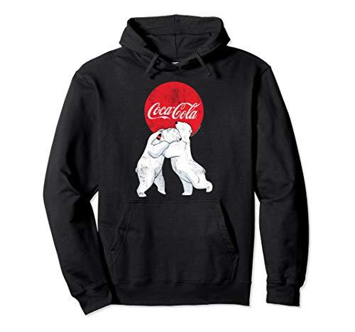 Coca-Cola Christmas Polar Bears Classic Logo Pullover Hoodie