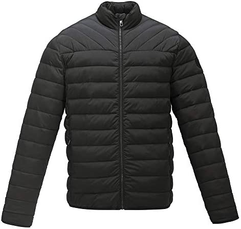 Ulooker Men s Lightweight Winter Down Cotton Jackets Casual Puffer Jackets Black Coats product image