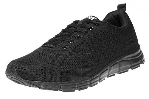 Boras Sneaker in Übergrößen Schwarz 5203-0001 große Herrenschuhe, Größe:52