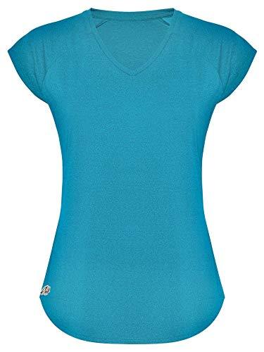 GO HEAVY T-shirt de sport fonctionnel pour femme L Turquoise.