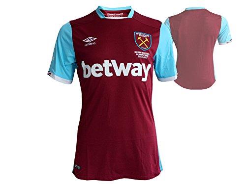Umbro Herren West Ham Home Short Sleeve Replica Jersey, mehrfarbig, klein