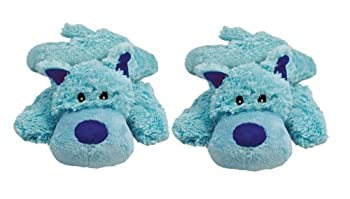 KONG Cozie Plush Toy - Baily The Blue Dog Medium - Baily The Blue Dog - Pack of 2