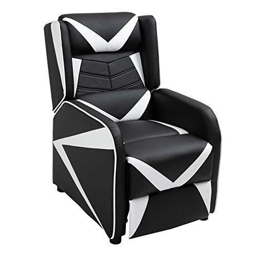 CARO-Möbel Gaming Relaxsessel Arrow in schwarz/weiß, moderner Jugend Fernsehsessel mit Bezug aus Lederimitat