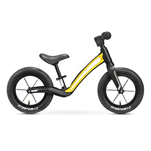 Pedali Balance Bike Bici Senza Pedali per Bambini da 12 Pollici / 14 Pollici, Telaio in Lega di Alluminio Senza Bicicletta a Pedali, con Altezza del Sedile Regolabile per Bambini di 2-6 Anni