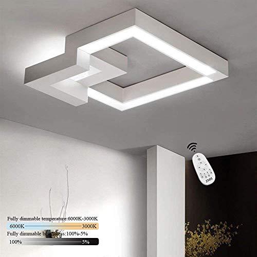 ZMH Plafoniera LED da soffitto I lampada moderna da soffitto 32W 40cm lampadario Dimmerabile bianco caldo  neutro   bianco freddo con il telecomando per camera da letto o soggiorno