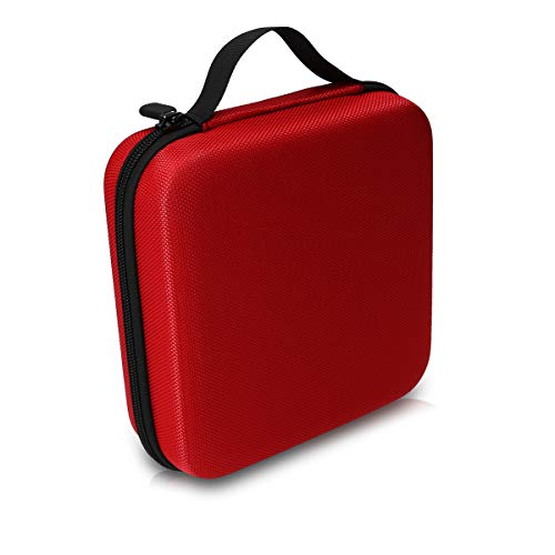 kwmobile Aufbewahrungstasche für Tonies - aus Nylon - Tonies Transportbox für bis zu 20 Tonie Figuren - Hartschale Box in Rot