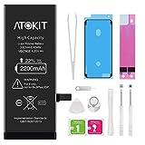 Batterie pour iPhone 6 2200mAh, Atokit Haute Capacité 6 Batterie Interne de Replacement avec Kit D'outils de Réparation Professionnel, Garantie 2 an (iPhone 6)