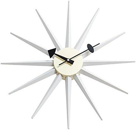 Shise George San Jose Popular brand Mall Nelson Sunburst Clock Decorative in Modern White S