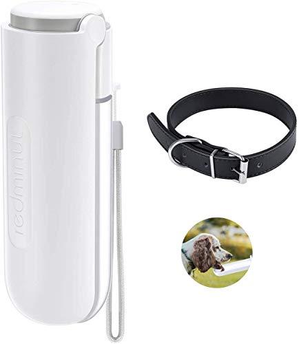 Botella de agua para perros portátil de 420 ml,botella de agua de viaje con dispensador de tazón,botella de agua para mascotas para caminar al aire libre y viajar,Collar de perro gratis