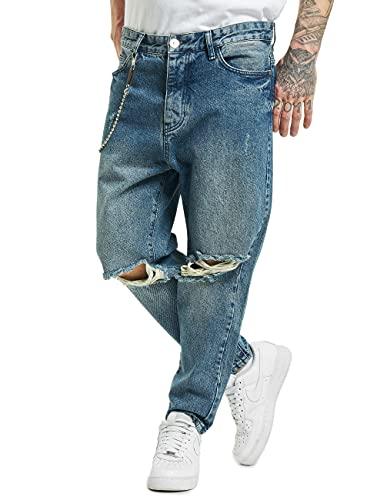 2Y Herren Straight Fit Jeans Peoria blau W 32