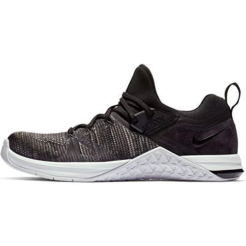 Nike Wmns Metcon Flyknit 3, Scarpe da Fitness Donna, Black/Black/Matte Silver/White, 37.5 EU