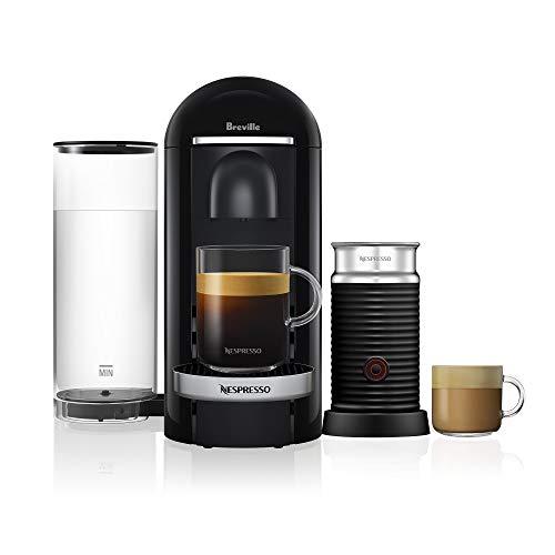 Nespresso VertuoPlus Deluxe Bundle Coffee Machines, Black, BNV450BLK