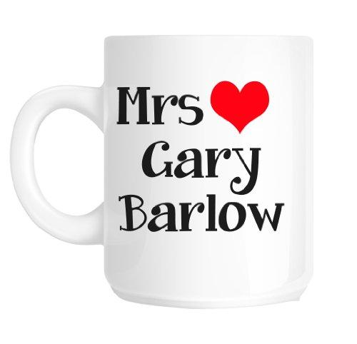 Mrs Gary Barlow Mug Loveheart Mug