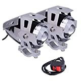Linterna de la motocicleta de 2 * U5, faro del Cree LED de 1200LM 6500K para el proyector de DRL con...