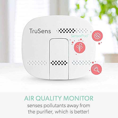 TruSens Z-2000 Air Purifier   Remote SensorPod   360 HEPA Filtration with Dupont Filter   UV Light Sterilization Kills Bacteria Germs Odor Allergens in Home   Dual Airflow for Full Coverage (Medium)